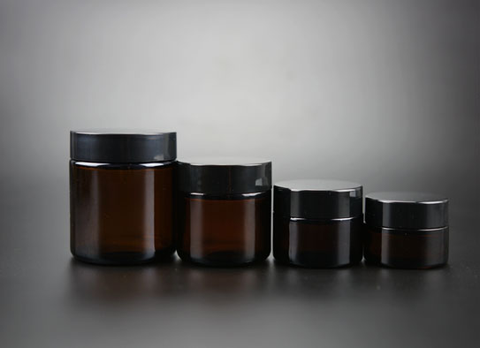 Amber Color Glass Jar For Cosmetic Cream